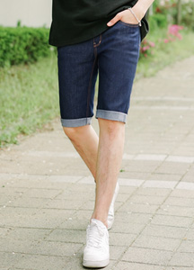 7220 - Denim Denim Rollup Shorts <br> (3 size) <br>