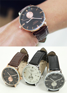 12802 - Moment Leather Watch <br> (3 color) <br>