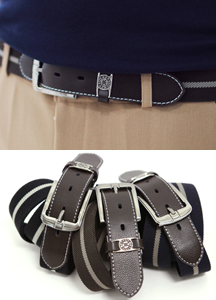 12873 - Line color combination span belt <br> (3 color) <br>
