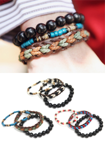 13014 - Three types of bracelets set <br>