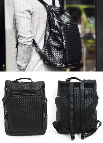 13032 - Chic mesh weave BackPack <br>
