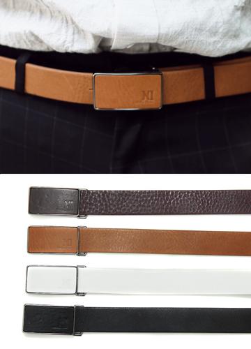 13046 - clip Leather Belt <br> (4 color) <br>