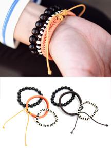 13317 - Boris simple multi braceletset <br> (2 color) <br>