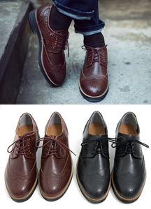 13401 - Crossed Classic Wingtip Shoes <br> (10 mm) <br>