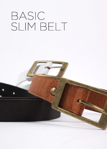 2041 - Basic Slim belt <br> (3 color) <br>