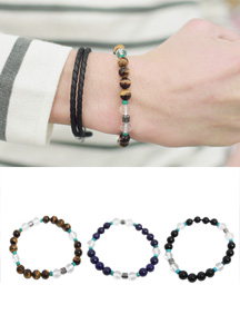 14270 - two tone crystal bracelet <br> (3 color) <br>
