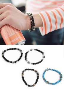 14288 - Color combination stone bracelet <br> (4 color) <br>