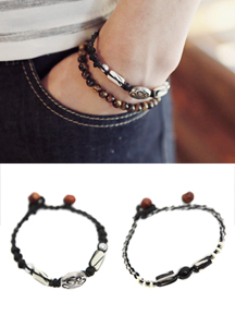 14305 - Symbol point kink bracelet <br> (2 color) <br>