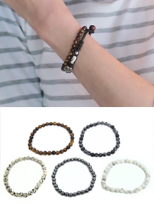 14306 - Cookie Gemstone bracelet <br> (5 color) <br>