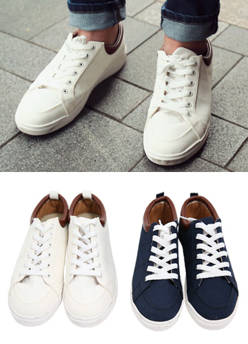 14664 - Aide Leather Patch Sneakers <br> (5 mm) <br>
