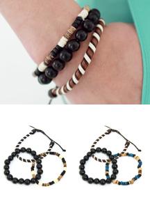 14705 - 3set detail point bracelet <br> (2 color) <br>