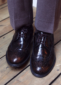 4528 - Luxury Cowhide Wingtip <br> (10 mm) <br>