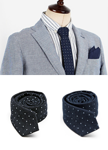 14888 - Denim dot tie <br> (2 color) <br>
