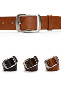 14899 - Silver Round Buckle Belt <br> (3 color) <br>