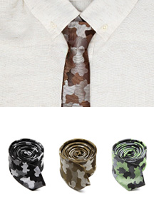 14999 - Freestyle camouflage print tie <br> (3 color) <br>