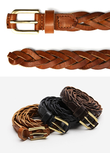 15043 - Leather Braided Belt <br> (3 color) <br