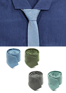 15070 - Two tone Slim tie <br> (4 color) <br>