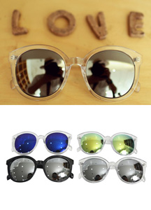 15216 - Mat Type Mirror Sunglasses <br> (4 color)