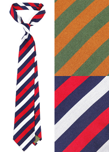 5041 - [ADLE] <br> Stripe Silk Tie <br> (1 color) <br>