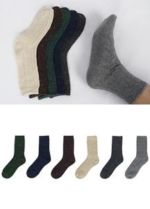 16004 - Bokashi Wool Socks <br> (6 color) <br/>