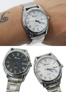 16083 - Roman numerals Classic metal watch <br> (2 color) <br>
