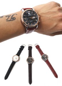 16085 - Globe Frame Dandy Watch <br> (3 color) <br>