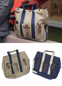 16233 - 3 Pocket Snap Tote & cross bag <br>
