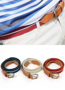 5435 - Mellow webbing belt <br> (3 color) <br>