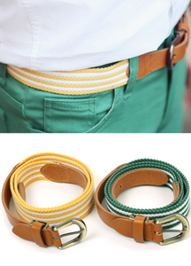 5473 - color combination webbing belt <br> (2 color) <br>