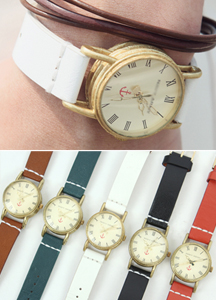 5499 - Damas Leather Watch <br> (5 color) <br>