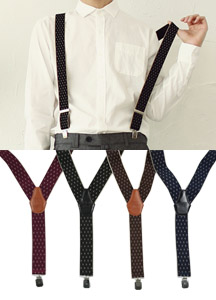 16711 - Dia Pattern Suspender <br> (4 color) <br>
