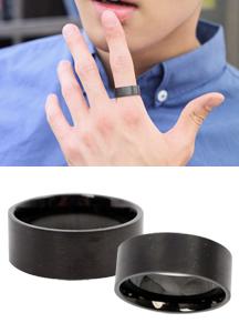 5675 - Black Metal Ring <br> (4 size) <br>