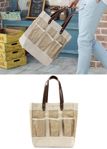 17097 - 3 Pocket straw tote <br>