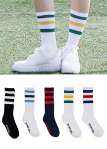 17176 - Color coordination point socks <br> (5 color) <br>
