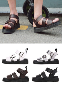 17455 - Three Way Buckle Strap sandals <br> (4 color / 5 mm) <br>