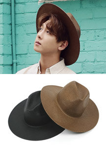 17482 - Modern Straw Fedora <br> (2 color) <br/>