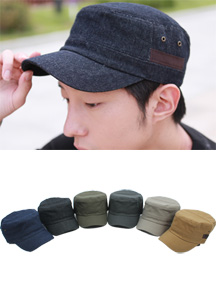 5953 - Simple banding military cap <br> (6 colors) <br>