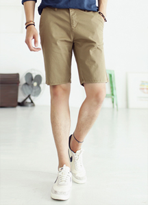 17693 - [HONZE] <BR> Soft Washing Chino Shorts <br> (4 size) <br>