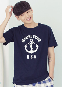 17815 - Marine Union Short T shirts <br> (2 color / 1 size) <br>
