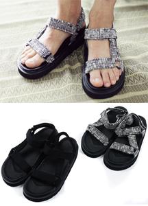 17872 - Strap Bold Velcro Sandals <br> (3 size) <br>