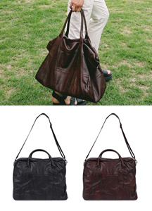 17975 - Natural Cowhide Boston Bag <br>