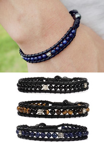 3ball stone bracelet