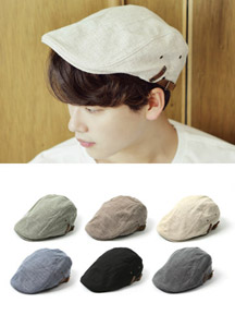 18000 - Casual Linen Hunting Cap <br> (6 color) <br/>