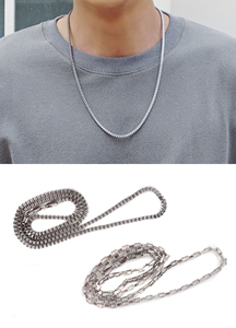 18035 - Steel chain Necklace <br> (2 type) <br>
