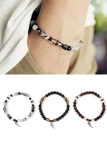 18038 - Feather Dandy Gemstone bracelet <br> (3 color) <br>