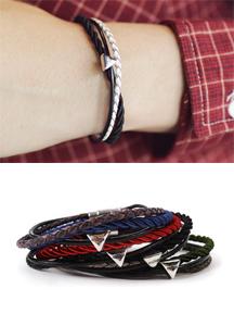 18050 - Three rope bracelet <br> (4 color) <br>