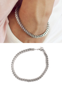 18055 - Silver chain bracelet <br> (1 color) <br>