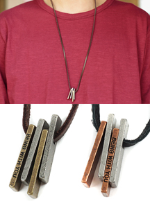 18056 - antique metal stick necklace <br> (2 color) <br>