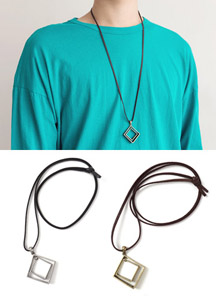 18116 - Double rhombic necklace <br> (2 color) <br>