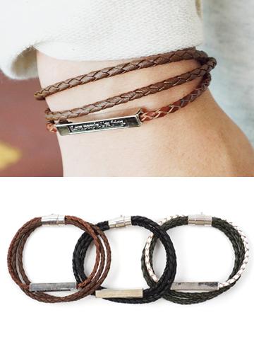 18155 - 3line daily bracelet <br> (3 colors) <br>